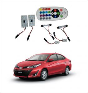 Trigcars Toyota Yaris 2 X 16 Colors Rgb Bright 5050 LED Car Roof Dome Light Festoon T10 IR Remote