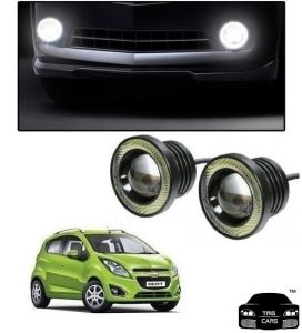 Trigcars Chevrolet Beat Car High Power Fog Light With Angel Eye