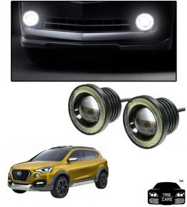 Trigcars Datsun Go Cross Car High Power Fog Light With Angel Eye