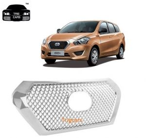 Trigcars Datsun Go Plus Car Front Grill Chrome Plated