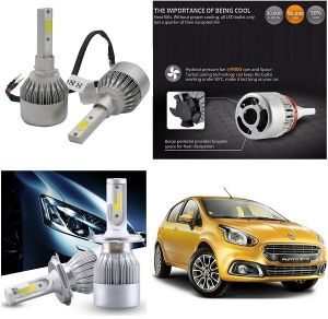 Headlights and bulbs - Trigcars Fiat Punto Evo Car LED HID Head Light