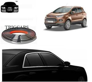 Trigcars Ford Eco Sport Car Side Window Chrome Beading Moulding Roll Car Bluetooth