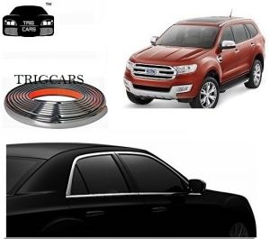 Trigcars Ford Endeavour New Car Side Window Chrome Beading Moulding Roll Car Bluetooth