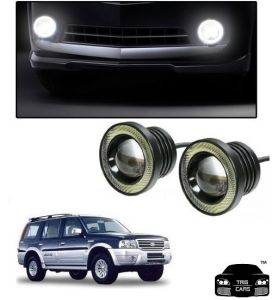 Trigcars Ford Endeavour Old Car High Power Fog Light With Angel Eye