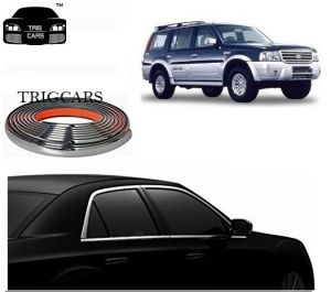 Trigcars Ford Endeavour Old Car Side Window Chrome Beading Moulding Roll Car Bluetooth