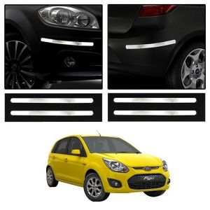 Trigcars Ford Figo Old Car Chrome Bumper Scratch Potection Guard Car Bluetooth