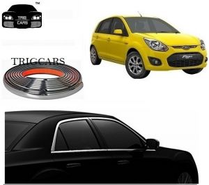 Trigcars Ford Figo Old Car Side Window Chrome Beading Moulding Roll Car Bluetooth