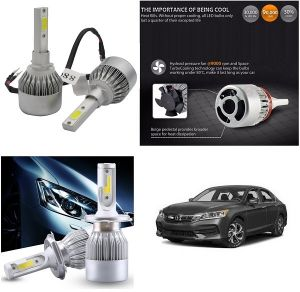 Headlights and bulbs - Trigcars Honda Accord Car LED HID Head Light