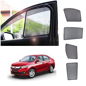 Magnetic curtain and sunshades for cars - Trigcars Honda Amaze 2018 Car Half Sun Shade