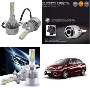 Trigcars Honda Amaze New Car LED Hid Head Light