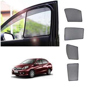 Magnetic curtain and sunshades for cars - Trigcars Honda Amaze New Car Half Sun Shade