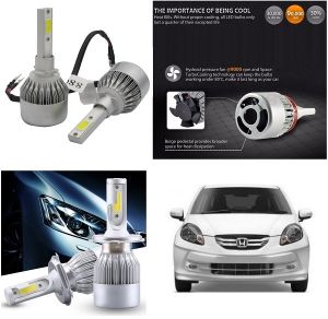 Trigcars Honda Amaze Old Car LED Hid Head Light