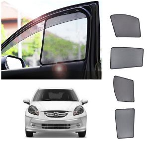 Magnetic curtain and sunshades for cars - Trigcars Honda Amaze Old Car Half Sun Shade
