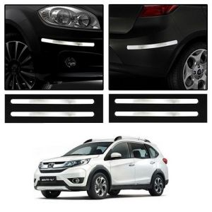 Trigcars Honda Br-v Car Chrome Bumper Scratch Potection Guard Car Bluetooth
