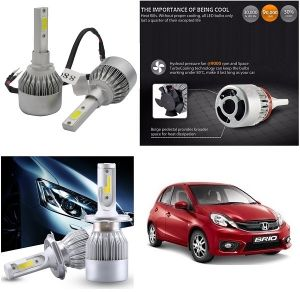 Trigcars Honda Brio Car LED Hid Head Light