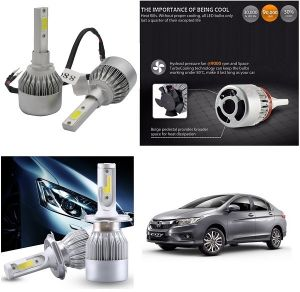 Headlights and bulbs - Trigcars Honda City New Car LED HID Head Light