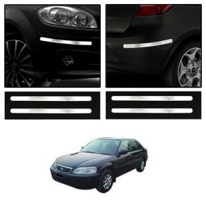 Trigcars Honda City Old Car Chrome Bumper Scratch Potection Guard Car Bluetooth