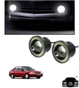 Trigcars Honda City Old Car High Power Fog Light With Angel Eye