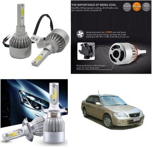 Headlights and bulbs - Trigcars Honda City Old Car LED HID Head Light