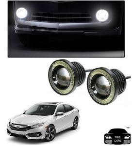 Trigcars Honda Civic Old Car High Power Fog Light With Angel Eye