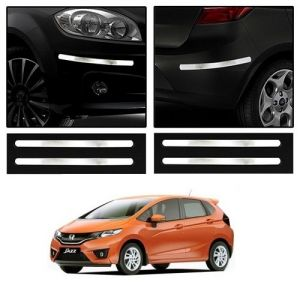 Trigcars Honda Jazz Car Chrome Bumper Scratch Potection Guard Car Bluetooth