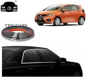 Trigcars Honda Jazz Car Side Window Chrome Beading Moulding Roll Car Bluetooth