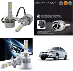 Trigcars Hyundai Accent Car LED Hid Head Light