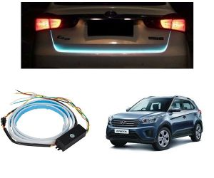 Trigcars Hyundai Creta Car Dicky LED Light Car Bluetooth