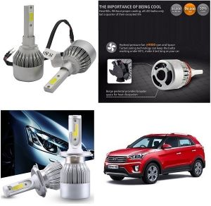 Trigcars Hyundai Creta Car LED Hid Head Light