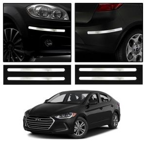 Trigcars Hyundai Elantra Car Chrome Bumper Scratch Potection Guard Car Bluetooth