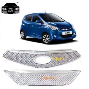 Trigcars Hyundai Eon Car Front Grill Chrome Plated