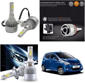 Trigcars Hyundai Eon Car LED Hid Head Light