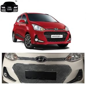 Car Accessories (Misc) - Trigcars Hyundai Grand i10 2017 Front Grill Chrome Plated