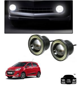 Trigcars Hyundai I10 Grand 2018 Car High Power Fog Light With Angel Eye