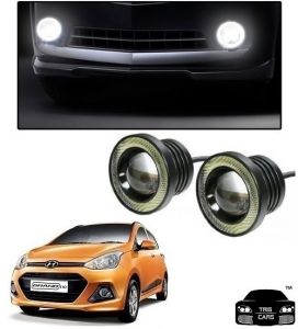 Trigcars Hyundai I10 Grand Car High Power Fog Light With Angel Eye