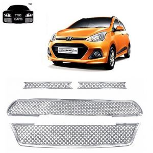 Trigcars Hyundai I10 Grand Old Car Front Grill Chrome Plated