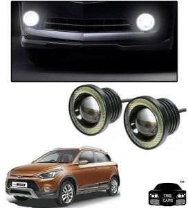 Trigcars Hyundai I20 Active Car High Power Fog Light With Angel Eye