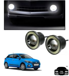 Trigcars Hyundai I20 Elite 2018 Car High Power Fog Light With Angel Eye