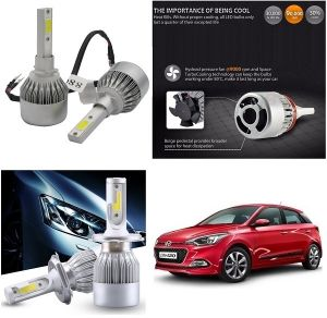 Trigcars Hyundai I20 Elite Car LED Hid Head Light