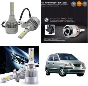 Headlights and bulbs - Trigcars Hyundai Santro Xing GL Car LED HID Head Light