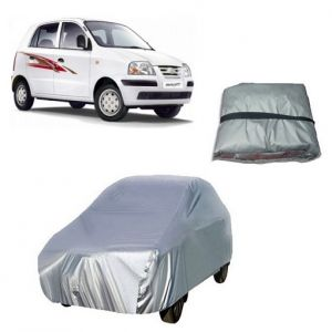 Body covers for cars - Trigcars Hyundai Santro Xing GLS Car Cover Silver