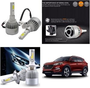 Headlights and bulbs - Trigcars Hyundai Tucson Car LED HID Head Light