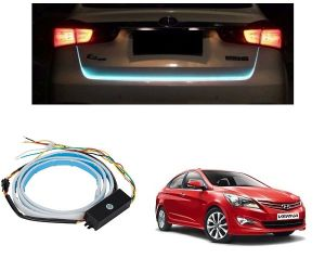 Trigcars Hyundai Verna Car Dicky LED Light Car Bluetooth