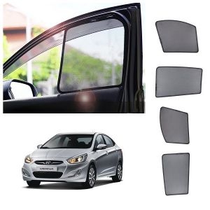 Magnetic curtain and sunshades for cars - Trigcars Hyundai Verna Car Half Sun Shade