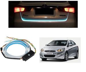Trigcars Hyundai Verna Fludic Car Dicky LED Light Car Bluetooth