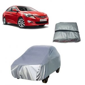 Car Accessories - Trigcars Hyundai Verna Fluidic Car Cover Silver
