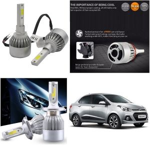 Trigcars Hyundai Xcent Car LED Hid Head Light