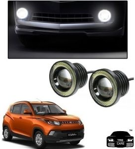 Trigcars Mahindra Kuv Car High Power Fog Light With Angel Eye