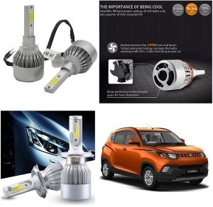 Headlights and bulbs - Trigcars Mahindra KUV Car LED HID Head Light