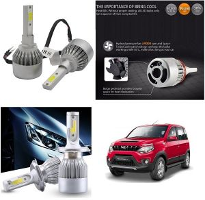 Headlights and bulbs - Trigcars Mahindra Nuvasport Car LED HID Head Light